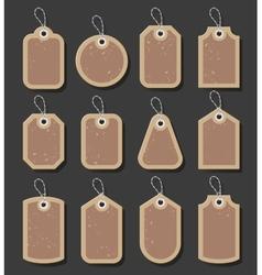 Vintage Style Sale Tags Design vector image