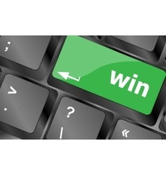 win word on computer keyboard key button Keyboard vector image vector image