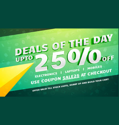 creative deals discount coupons and sale voucher vector image vector image