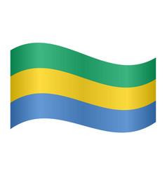 flag of gabon waving on white background vector image vector image