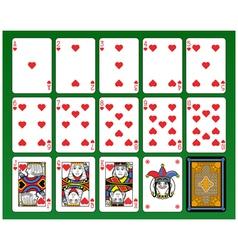 Hearts suite vector image vector image