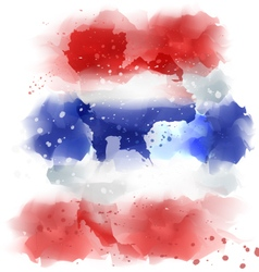 map of thailand Watercolor paint vector image