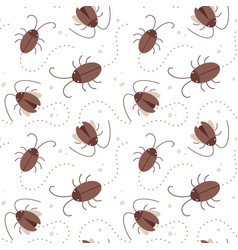 seamless pattern cockroac vector image