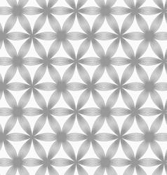 Slim gray geometric striped flower vector image vector image