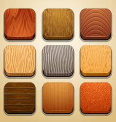 wood background for the app icons-part 2 vector image