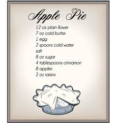 apple pier ecipe vector image vector image