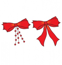 big bows of red ribbon vector image