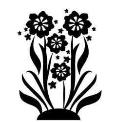 black flowers 2 vector image