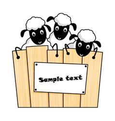 Cute cartoon sheep vector image vector image