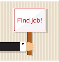 Looking for a job vector image vector image