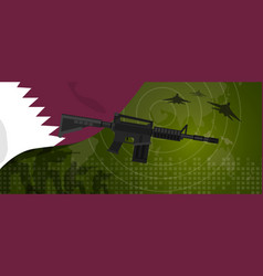 Qatar military power army defense industry war and vector