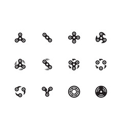 spinner anti stress icons on white background vector image
