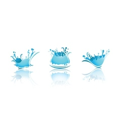 splashing waves and water first set icons vector image vector image