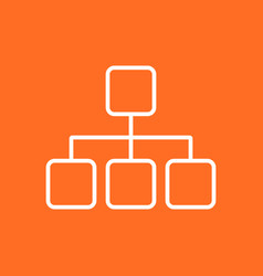 structure simple flat icon on orange background vector image