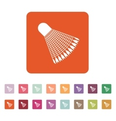 The badminton icon Shuttlecock symbol Flat vector image