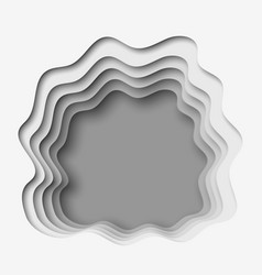 3d abstract paper cut gray background vector