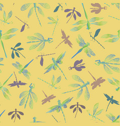 abstract dragonflies with lace design wings and vector image