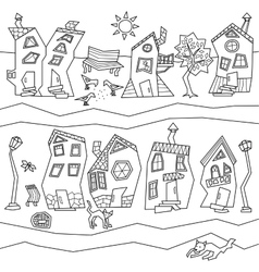 Abstract town street vector