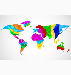Abstract world map in geometric polygonal style vector