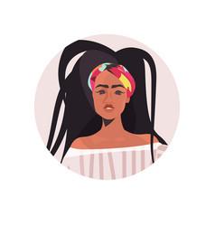 African american woman profile avatar beautiful vector