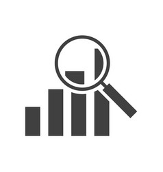 analysis black icon on white backgroun graph vector image