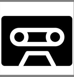 Audio cassette caste movie tape icon vector