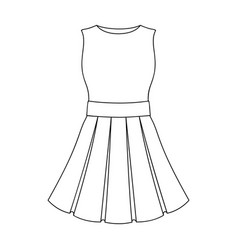 Beautiful light pink summer dress without sleeves vector