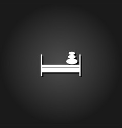 bed with pillows icon flat vector image