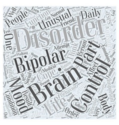 bipolar disorder for dummy Word Cloud Concept vector image