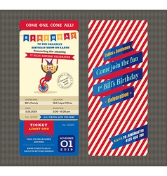 birthday card boarding pass style vector image