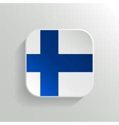 Button - Finland Flag Icon vector image