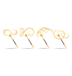 Cartoon magical wand vector