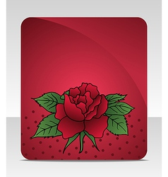 celebration card with rose vector image
