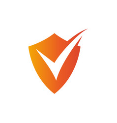 Checklist icon shield document vector