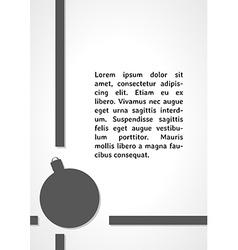 Christmas ball dark infographics vector