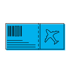 color airplane ticket travel to vacation tourism vector image