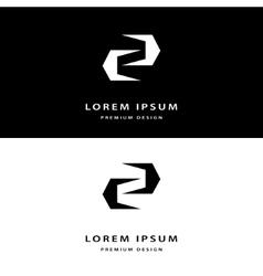 Creative icon monogram design elements with vector image