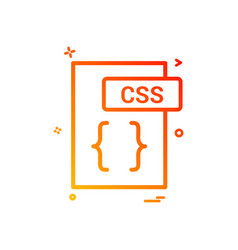 css file format icon design vector image