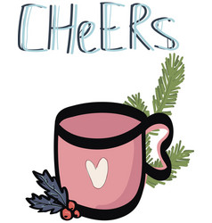 cute greeting cards new year and christmas vector image