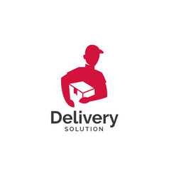 Delivery solution logo design vector