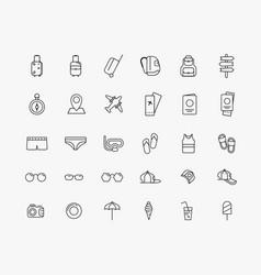 Design set icons on theme travel vector