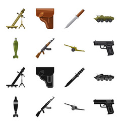 Design weapon and gun sign set of vector