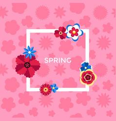 Digital pink flowers set vector