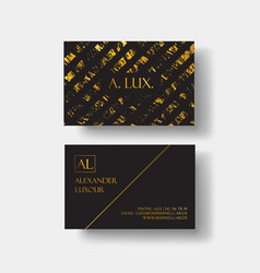 elegant black luxury business cards with marble vector image