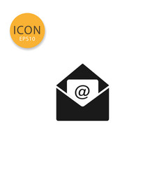 email with opened envelope icon isolated flat vector image