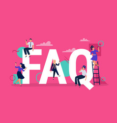 Faq frequently asked questions people vector