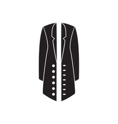 Flat icon in black and white coat vector
