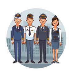 Flight crew cartoon vector