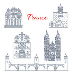 france clermont or champagne line landmarks vector image