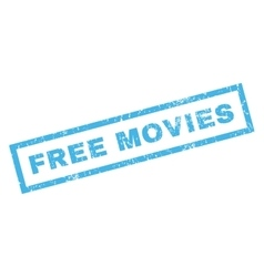 Free Movies Rubber Stamp vector image